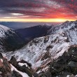 Majestic sunset in winter mountains — Stock Photo #52435265