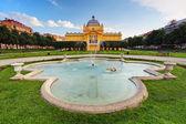 Art pavillion in Zagreb — Stock Photo