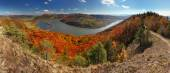 Fall Panorama with forest — Stock Photo