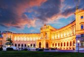 Vienna Hofburg Imperial Palace at night — Stock Photo