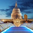 Millennium Bridge leads to Saint Paul's Cathedral — Stock Photo #53283931