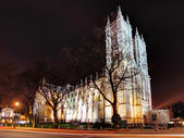 Westminster Abbey at night — Stock Photo