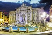 Roma - Trevi fountain — Stock Photo