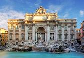 Rome, Fountain di Trevi — Stock Photo