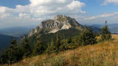 Slovakia mountain peak Rozsutec - Time lapse — Stock Video