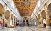 ROME, MARCH - 21: Interior of church Santa Maria Aracoeli. March — Stock Photo