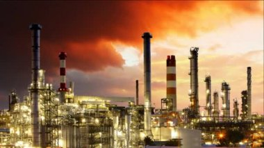 Gas refinery, Oil industry - Time lapse — Stock Video