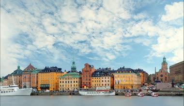 Stockholm - Old Town, Time lapse — Stock Video