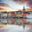 Stockholm, Sweden - panorama of the Old Town, Gamla Stan — Stock fotografie #59162969