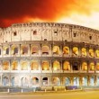 Colosseum at sunset in Rome, Time lapse — Stock Video #59285789
