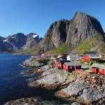 Norway village with mountain - Lofoten, Reine — Stock Photo #62595521