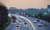 Transportation on highway with cars — Stock Photo