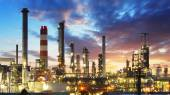 Oil and gas refinery, Power Industry — Stock Photo