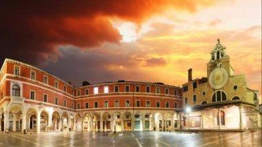 San Giacomo di Rialto - Venice, Time lapse — Stock Video