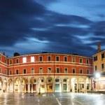 San Giacomo di Rialto - oldest church in Venice at night — Stock Photo #63792607