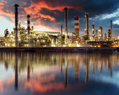 Oil Industry - refinery factory — Stock Photo