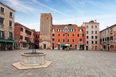 Square - Campo Santa Margherita in Venice — Stock Photo