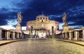 Castel Sant Angelo from  bridge, Rome. — Stock Photo