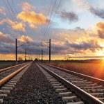 Railroad at sunset — Stock Photo #66987527