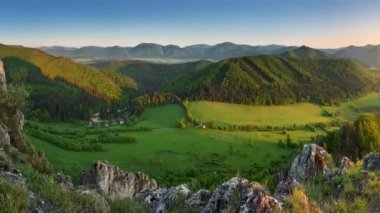 Spring and summer in Slovakia mountain - Motion video — Stock Video