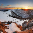 Slovakia winter mountain at sunset - Velka Fatra — Stock Photo #68869005