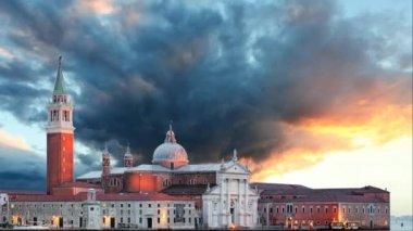 Venice - Church of San Giorgio Maggiore, Time lapse — ストックビデオ