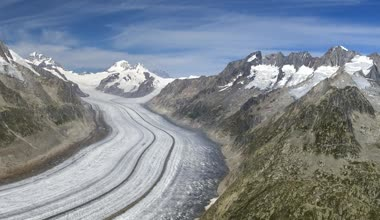 Aletsch glacier - Swiss Alps — Stock Video