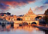 Watykanu z Bazyliką Świętego Piotra — Zdjęcie stockowe