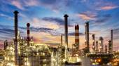 Factory, Industry, Oil Refinery — Stock Photo