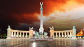 Budapest - Heroes square — Stock Photo