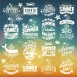 Retro elements for Summer calligraphic designs . Vintage ornaments . tropical paradise, sea, sunshine, weekend tour, beach vacation, bon voyage, adventure labels . vector set — Stock Photo #56185459
