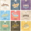 Retro elements for Summer calligraphic designs . Vintage ornaments . tropical paradise, sea, sunshine, weekend tour, beach vacation, bon voyage, adventure labels . vector set — Stock Photo #56185525
