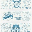 Back to School Calligraphic Designs Label Set . Retro Style Elements . Vintage Ornaments . Sale, Clearance . Vector Set — Stock Photo #56185645
