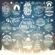 Hand Drawn Christmas And New Year Decoration Set Of Calligraphic And Typographic Design With Labels, Symbols And Icons Elements — 图库照片 #56185901