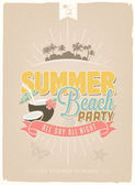 Vintage, Retro Summer Paradise Holidays Poster. Vector Background. With Typography — Stock Photo