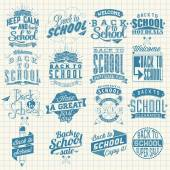 Back to School Calligraphic Designs Label Set . Retro Style Elements . Vintage Ornaments . Sale, Clearance . Vector Set — Stock Photo