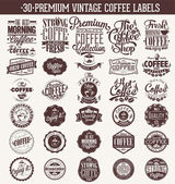 Set Of Vintage Retro Coffee Labels. Coffee decoration collection . Set of calligraphic and typographic elements styled design, frames, vintage labels. Vector. — Stock Photo