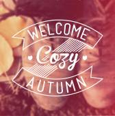 Welcome Cozy Autumn Vintage Background — Stockfoto