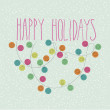 Happy Holidays Doodle Card — Stock Photo #59358335