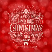 Vintage vector Christmas And New Year Greeting Card — Stock Photo
