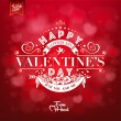 Elegant Valentines Day Card On Red Background — Φωτογραφία Αρχείου #64382163