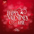 Elegant Valentines Day Card On Red Background — Stock Photo #64382185