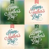 Happy Father's Day And Mother's Day Typographical Background Set — Stock Photo
