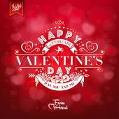 Elegant Valentines Day Card On Red Background — Stock Photo