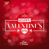 Elegant Valentines Day Card On Red Background — Foto Stock