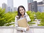 Señora de la oficina de Asia — Foto de Stock