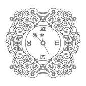 Vintage wall clock — Stock Vector