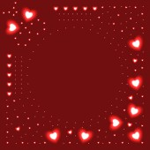 Background of glowing hearts — Vector de stock