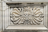 Ornament of outside  wall, Didyma, Turkey. — Zdjęcie stockowe