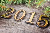 New Year background with  fir decorations — Zdjęcie stockowe
